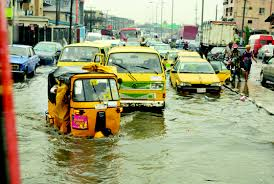 Flooded Lagos Road