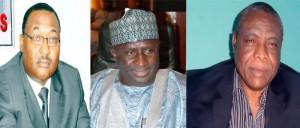 LR: Barr. Hassan Bello, Sen. Idris Umar and Rev. Jonathan Nicol