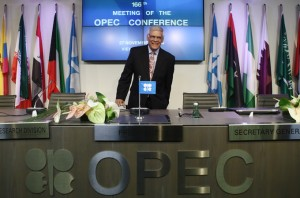 OPEC Secretary-General al-Badri arrives for a news conference after a meeting of OPEC oil ministers at OPEC's headquarters in Vienna