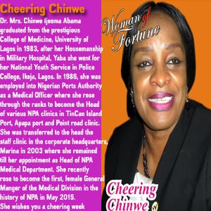 Cheering Chinwe