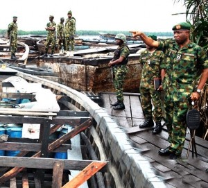Nigerian Army Uncovers Oil Bunkering Site Near Govt House