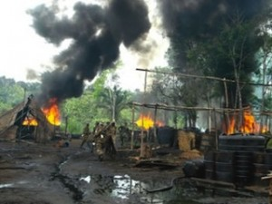 10 illegal Refineries Destroyed, 42 Oil Tankers Seized- NSCDC