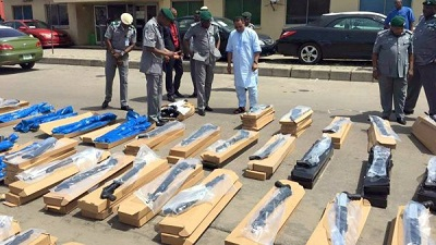 Customs Intercepts Container Of 440 Riffles At Tin Can Port