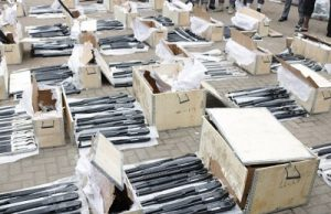 BREAKING! Container-Load Of Arms Found In Lagos Port