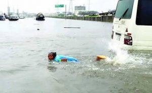 Lagos floods cause power outage in Lekki, VI, others
