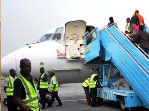 Panic as Dana Air Aircraft Emergency Door Falls Off