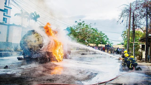 Tanker explodes, injures resident in Victoria Island