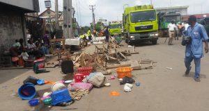 Breaking!!! Massive Demolition At Apapa As FG Sanitizes Port Environment