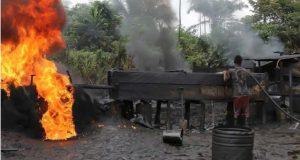 JTF Pull Down Biggest Illegal Oil Refineries in Delta
