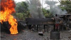 JTF Pull Down Biggest Illegal Oil Refineries in Delta