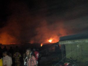 Lagos Pipeline Fire Guts 100 Shops, 50 Vehicles