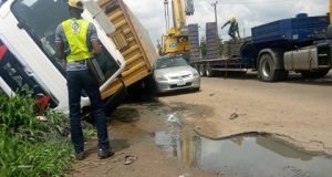 Container-Laden Truck Kills Woman In Ibadan