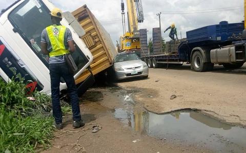 Container-Laden Truck Kills Woman In Ibadan