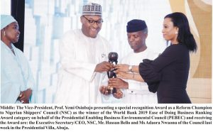 Shippers' Council Bags 2019 World Bank Ease of Doing Business Award