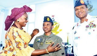 NAF wings first female fighter pilots