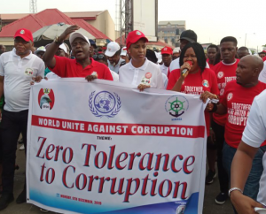 EFCC, NPA, Shippers' Council, Others Mark World Anti-Corruption Day With Road Walk