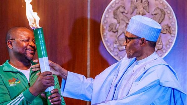 Buhari receives Edo sports festival 'torch of unity'