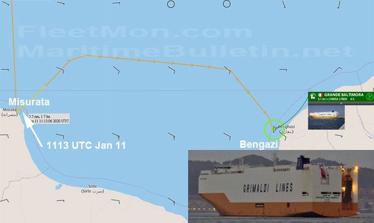 GRIMALDI car carrier seized by Libyan National Army?