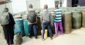Navy seizes 204 Cameroon-bound drums of diesel