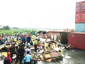 Again, fallen container kills two in Lagos