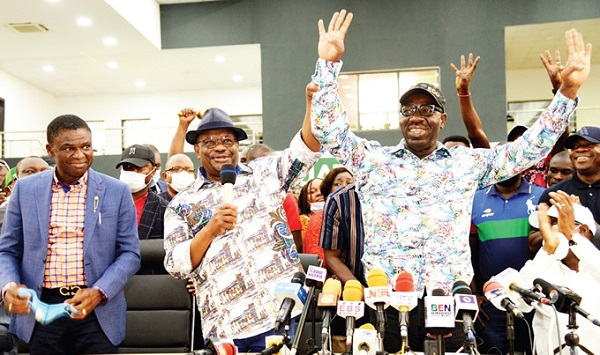 Obaseki leads victory parade, says 'lions, tigers' tamed, now in zoo