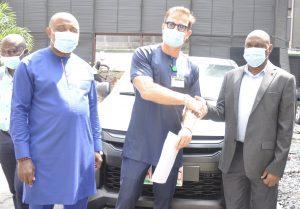 PTML Donates New Toyota Hilux Van To NPA