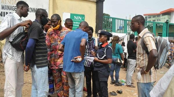 Booking system malfunctions as crowds return for NIN enrolment