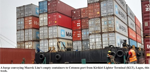 Port Crisis: Nigeria Tranships Empty Containers To Cotonou Using Barges