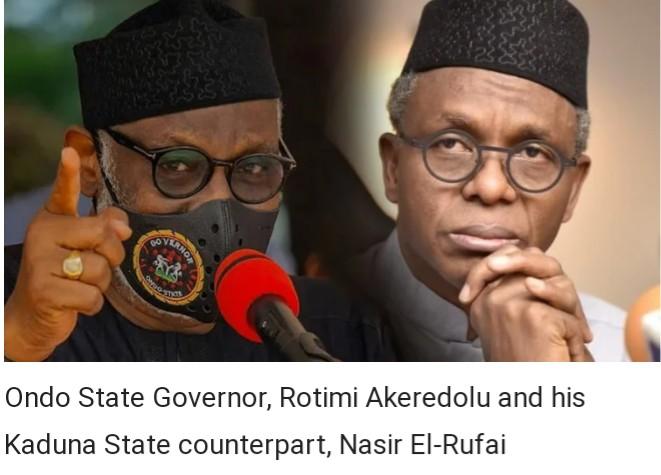 El-Rufai masquerading as leader, exporting banditry to South – Akeredolu