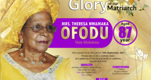 Burial Service For Chinwe Ezenwa's Mother Holds On October 29